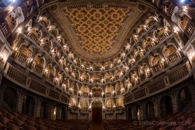 Italia Lombardia Mantua Teatro Scientifico Bibiena Interior