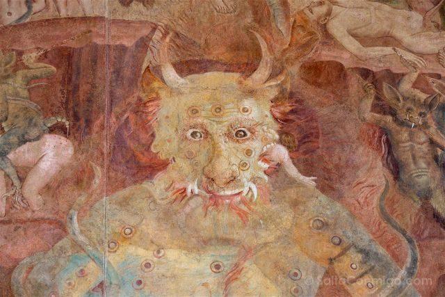 Italia Toscana Pisa Camposanto Fresco Juicio Final Diablo