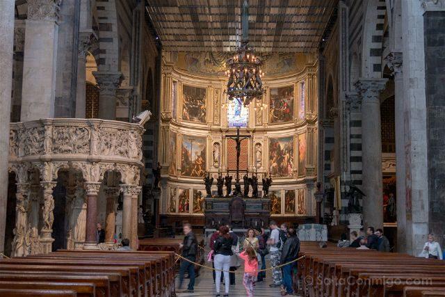 Italia Toscana Pisa Catedral Lampara