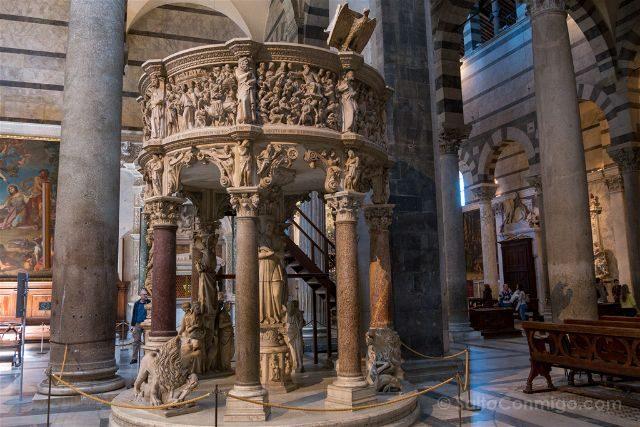 Italia Toscana Pisa Catedral Pulpito Pisano