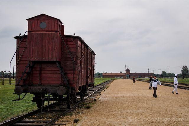 Polonia Cracovia Auschwitz Birkenau Vagon