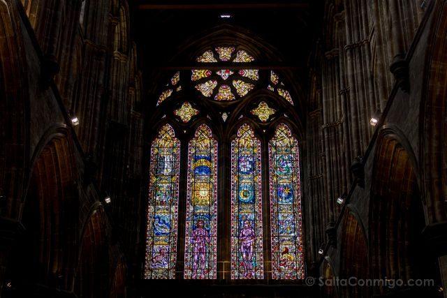 Reino Unido Escocia Glasgow Catedral Vidriera