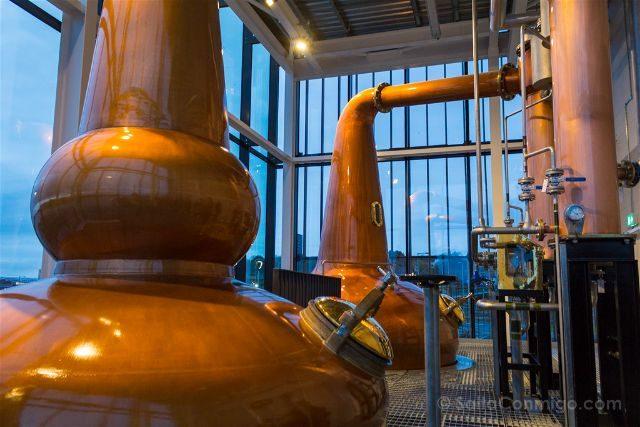 Reino Unido Escocia Glasgow Clydeside Distillery Alambiques