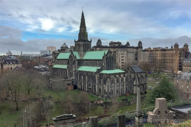 Reino Unido Escocia Glasgow Necropolis Vista Catedral