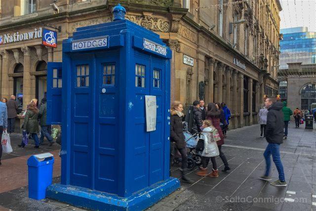 Reino Unido Escocia Glasgow Quiosco Policia