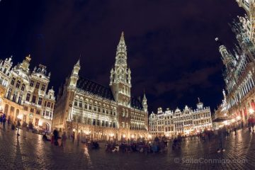Belgica Bruselas Grand Place Hora Azul Ojo Pez