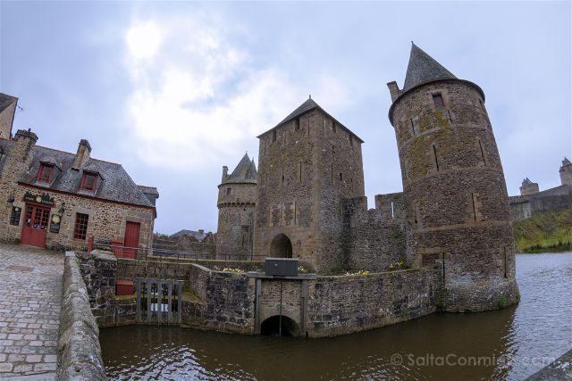 Francia Bretagne Castillo Fougeres Entrada