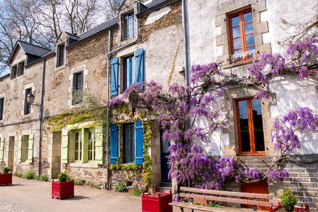 Francia Bretagne Rochefort-en-terre Colores