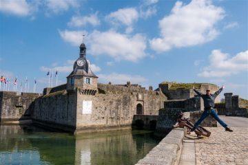 Francia Bretagne Ville-Close Concarneau Murallas Salto