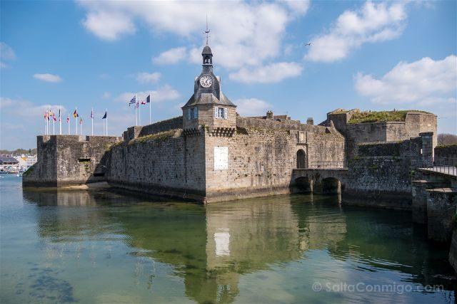 Francia Bretagne Ville Close Concarneau Murallas