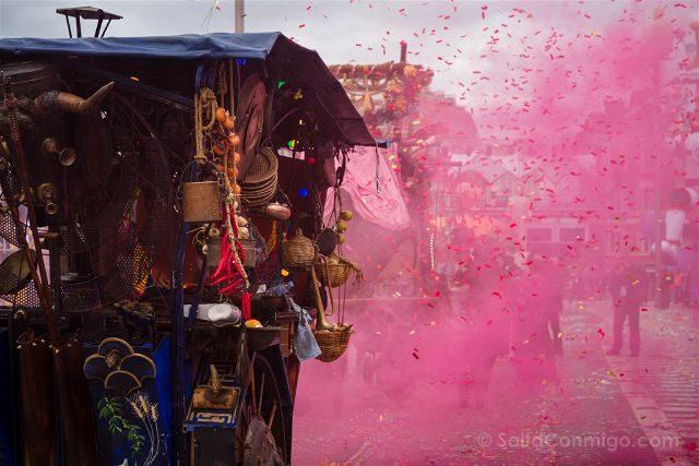 Francia Niza Carnaval Batalla Flores Carro Humo