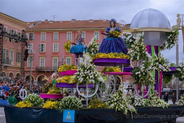 Francia Niza Carnaval Batalla Flores Carroza