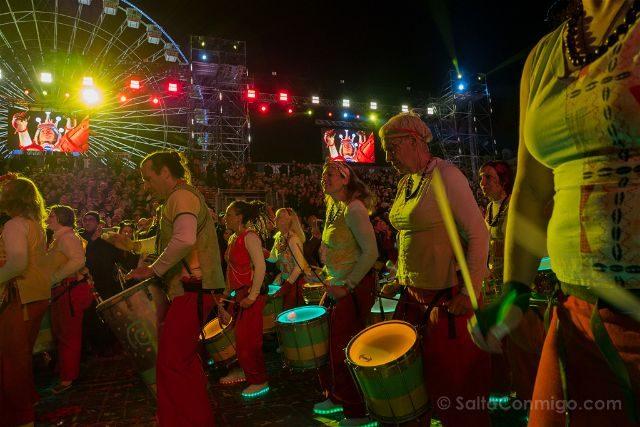 Francia Niza Carnaval Festival Luces Batukada