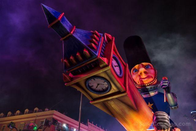 Francia Niza Carnaval Festival Luces Carroza Brexit