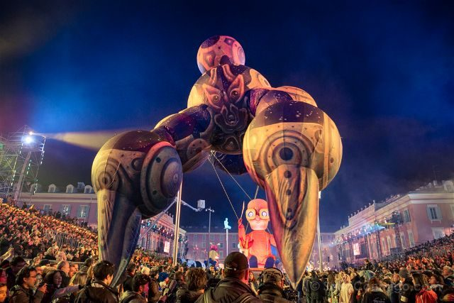 Francia Niza Carnaval Festival Luces Hinchable