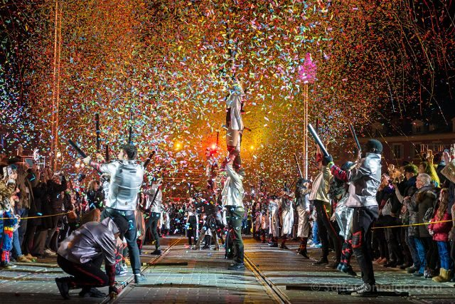 Francia Niza Carnaval Festival Luces Inicio