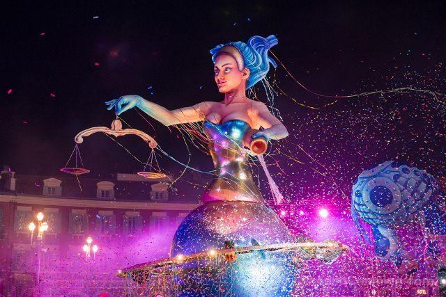 Francia Niza Carnaval Festival Luces Reina