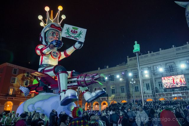 Francia Niza Carnaval Festival Luces Rey