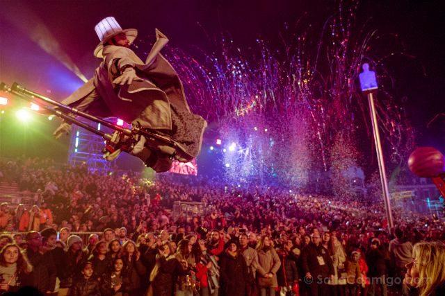 Francia Niza Carnaval Festival Luces Salto