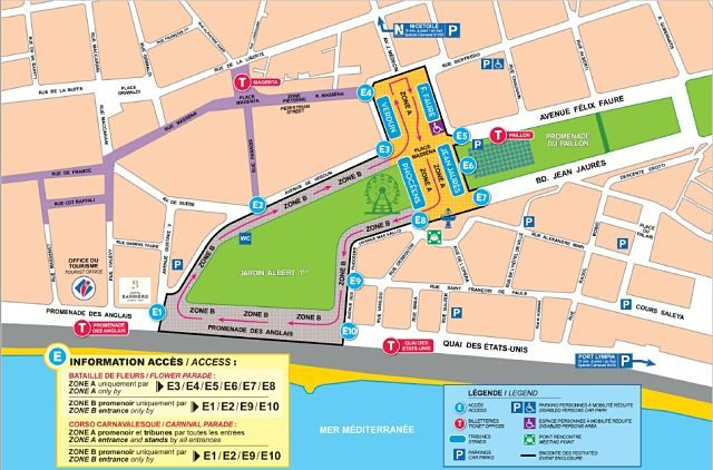 Francia-Niza-Carnaval-Mapa