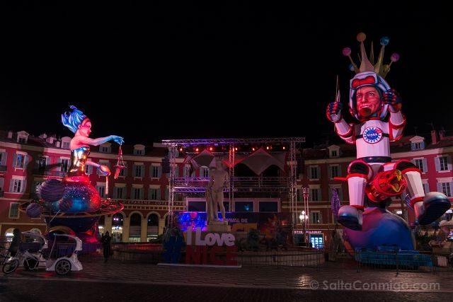Francia Niza Carnaval Rey Reina Plaza Massena