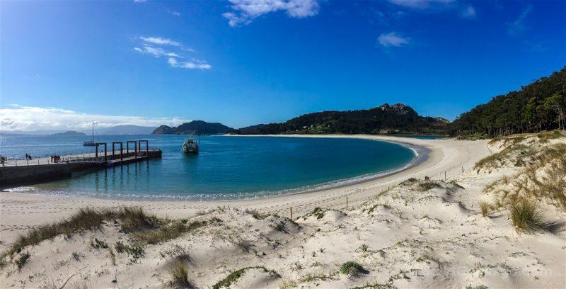 Galicia Islas Cies Praia Rodas Playa Panoramica