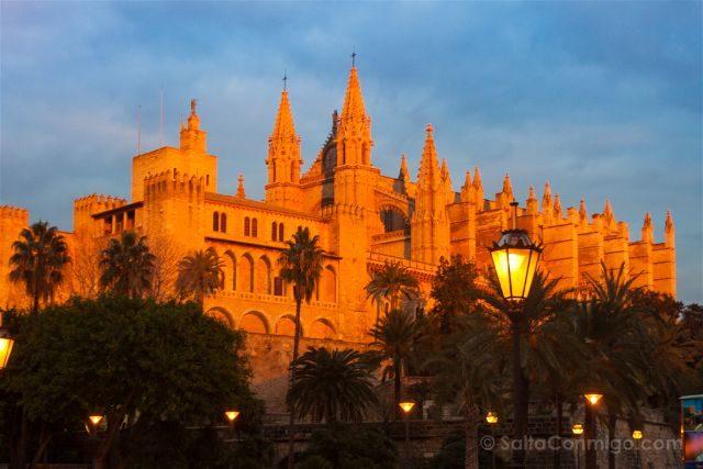 Islas Baleares Mallorca Catedral Atardecer