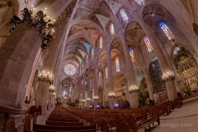 Islas Baleares Mallorca Catedral Capilla Interior Ojo Pez
