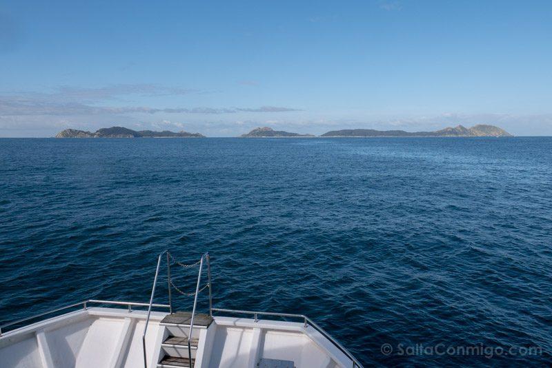 Islas Cies Galicia Barco
