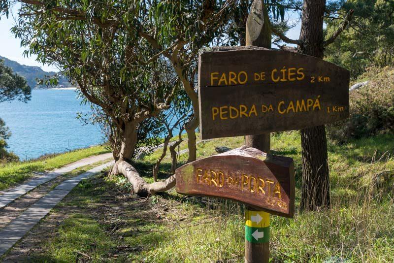 Islas Cies Galicia Carteles Senderos