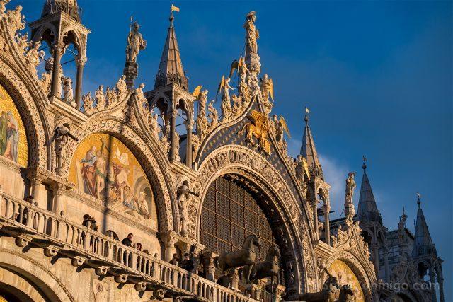 Italia Venecia Basilica San Marco Atardecer