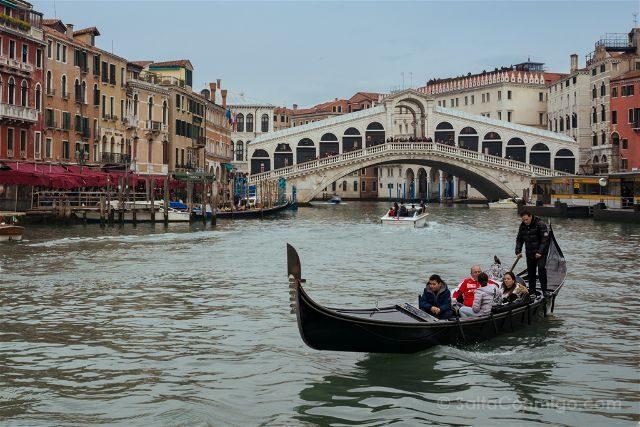 Italia Venecia Ponte Rialto Gondola