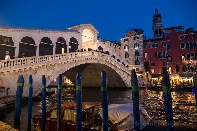 Italia Venecia Ponte Rialto Hora Azul