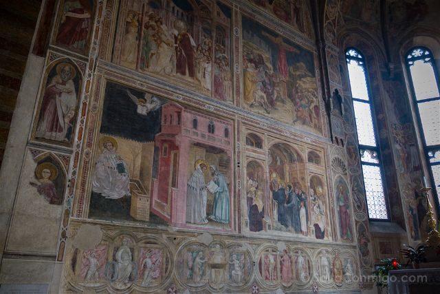 Italia Veneto Padua Chiesa Eremitani Frescos Altar