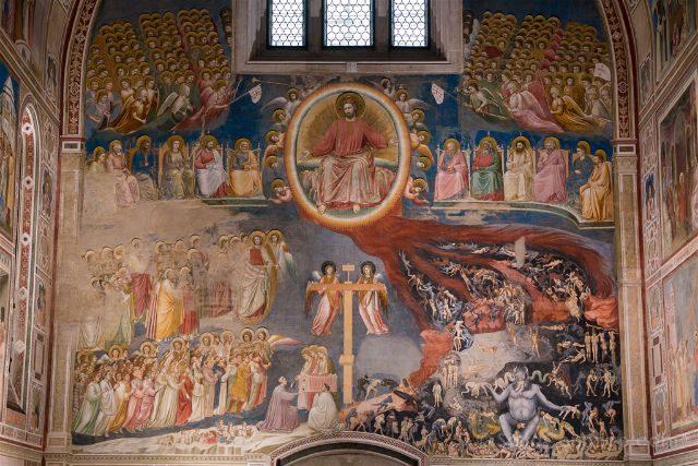 Italia Veneto Padua Giotto Cappella Scrovegni Juicio Final