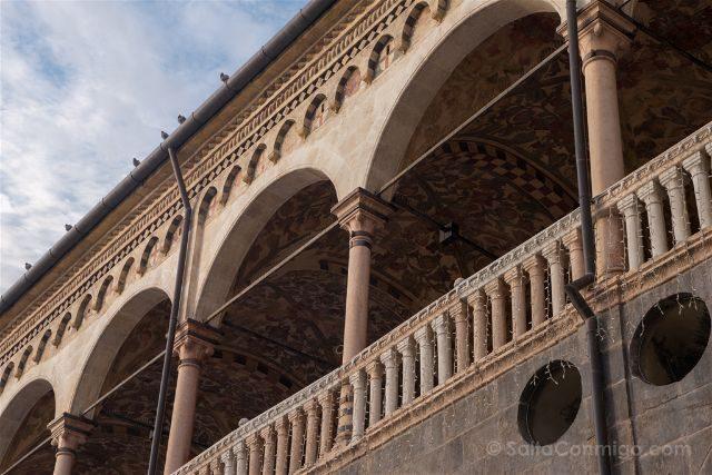 Italia Veneto Padua Palazzo Della Ragione Detalle