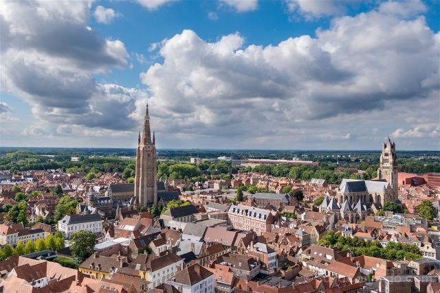 Belgica Flandes Brujas Belfort Arriba