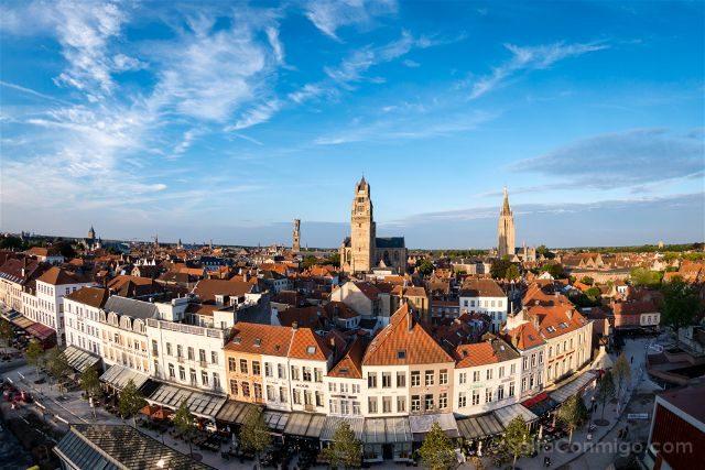 Fotos de Brujas Bélgica Panorama desde Concertgebouw