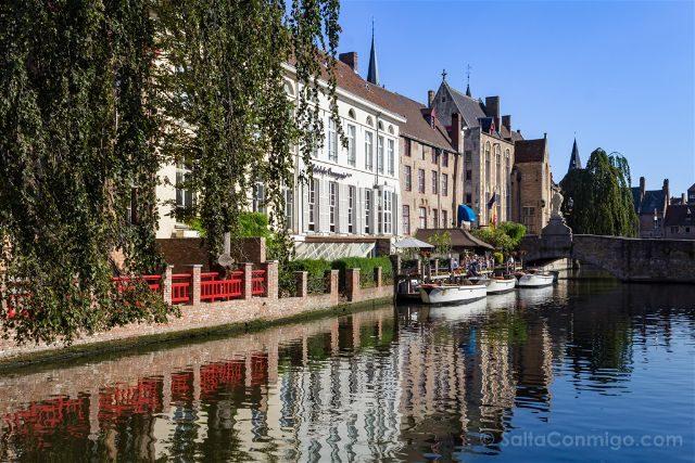 Fotos de Brujas Bélgica Dijver Puente Wollestraat