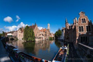 Belgica Flandes Brujas Rozenhoedkaai Dia