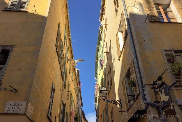 Francia Niza Calles Vieux Nice Gaviota