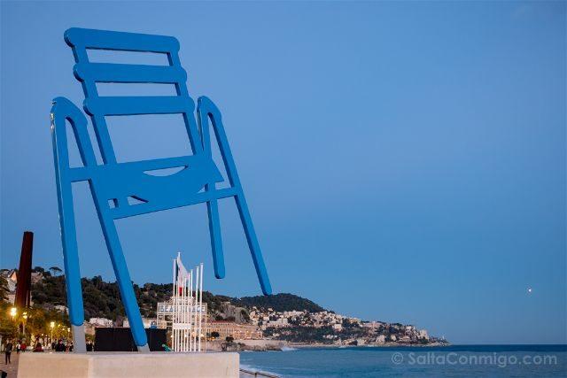 Francia Niza Chaise Bleue