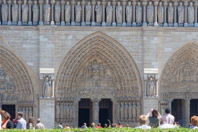 Francia Paris Notre-Dame Fachada Portadas