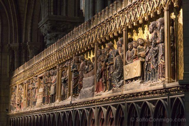 Francia Paris Notre-Dame Interior Cierre Coro