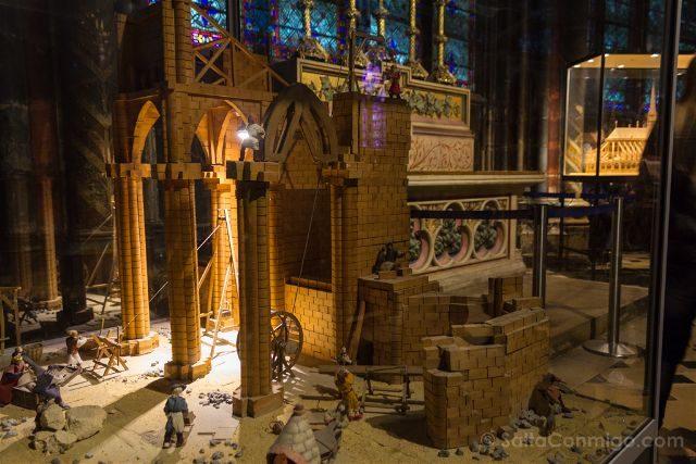 Francia Paris Notre-Dame Interior Maqueta Construccion
