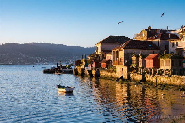 Galicia Pontevedra Rias Baixas Combarro Horreos Amanecer