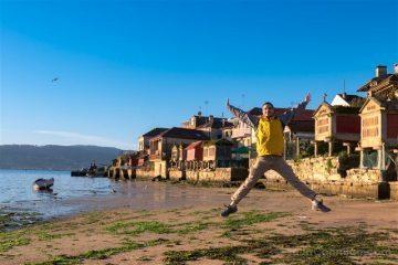 Galicia Pontevedra Rias Baixas Combarro Horreos Salto