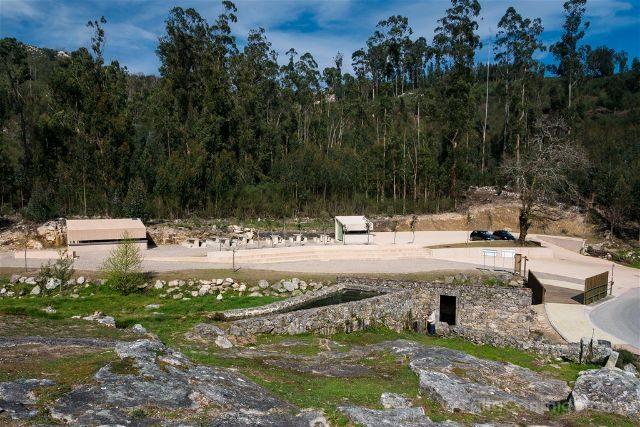 Galicia Rias Baixas Ruta Muíños do Folón e do Picón Aparcamiento