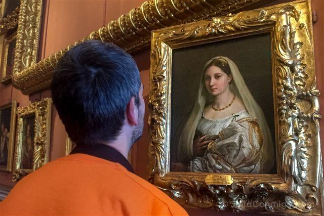 Italia Florencia Galeria Palatina Dama Velada