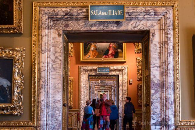 Italia Florencia Galeria Palatina Palazzo Pitti Salas